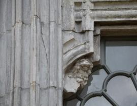 Fragment elewacji - fasada na Wyspie Pawiej