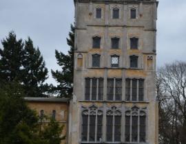 Oryginalna fasada gotyckiej kamienicy z Brotbänkenstraße na Pawiej Wyspie