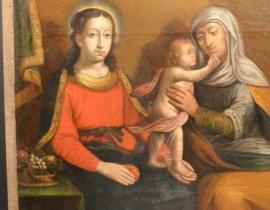 ¦w.Anna Samotrzeæ, XVII w., Muzeum Frombork, pierwotnie ko¶ció³ w Babiaku