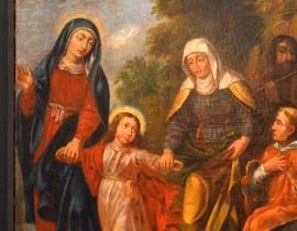 ¦w. Rodzina, XVIII w., Nowy pa³ac biskupi (ob. plebania), Frombork